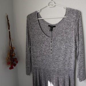 forever 21 gray long sleeve dress